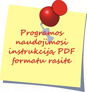 Programos naudojimosi instrukcija